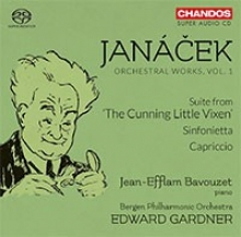 JANACEK Orchestral Works Vol. 1. Sinfonietta, CAPRICCIO. Suite from The Cunning Little Vixen with Bergen Symphonic Orchestra Edward GARDNER conducting