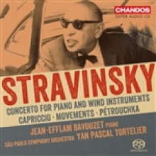 Stravinsky Concerto for Piano and Wind Instruments Capriccio  Movements Pétrouchka with São Paulo Symphony Orchestra, Yan Pascal TORTELIER conducting