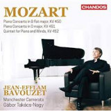 MOZART Piano Concertos KV450, KV451, Quintet for Piano and Winds KV452 Manchester Camerata Gàbor Takàcs-Nagy conducting